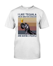 Tequila and Miniature Schnauzer Premium Fit Mens Tee thumbnail