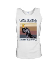 Tequila and Miniature Schnauzer Unisex Tank thumbnail