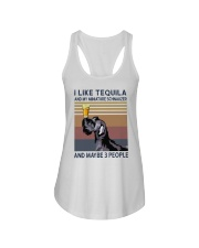Tequila and Miniature Schnauzer Ladies Flowy Tank thumbnail