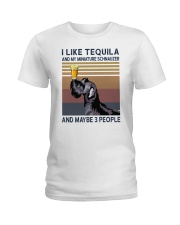 Tequila and Miniature Schnauzer Ladies T-Shirt thumbnail