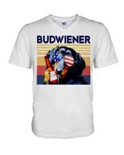 Budwiener Dachshund V-Neck T-Shirt thumbnail