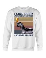 Beer and Miniature Schnauzer Crewneck Sweatshirt thumbnail