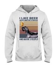 Beer and Miniature Schnauzer Hooded Sweatshirt thumbnail