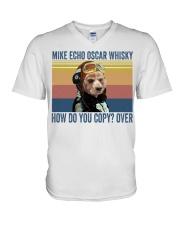 American Cocker Spaniel Mike Echo V-Neck T-Shirt thumbnail