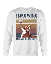 Wine and Corgi Crewneck Sweatshirt thumbnail