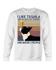 Tequila and Boston Terriers Crewneck Sweatshirt thumbnail