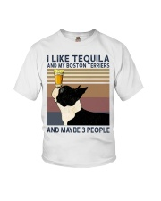Tequila and Boston Terriers Youth T-Shirt thumbnail