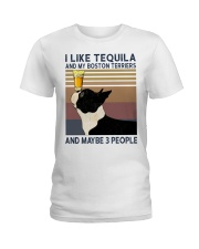 Tequila and Boston Terriers Ladies T-Shirt thumbnail