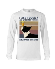 Tequila and Boston Terriers Long Sleeve Tee thumbnail