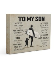 26 SURFING TO MY SON 14x11 Gallery Wrapped Canvas Prints front
