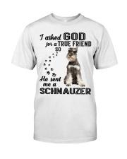 Miniature Schnauze Asked God Premium Fit Mens Tee thumbnail