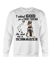 Miniature Schnauze Asked God Crewneck Sweatshirt thumbnail