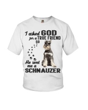 Miniature Schnauze Asked God Youth T-Shirt thumbnail