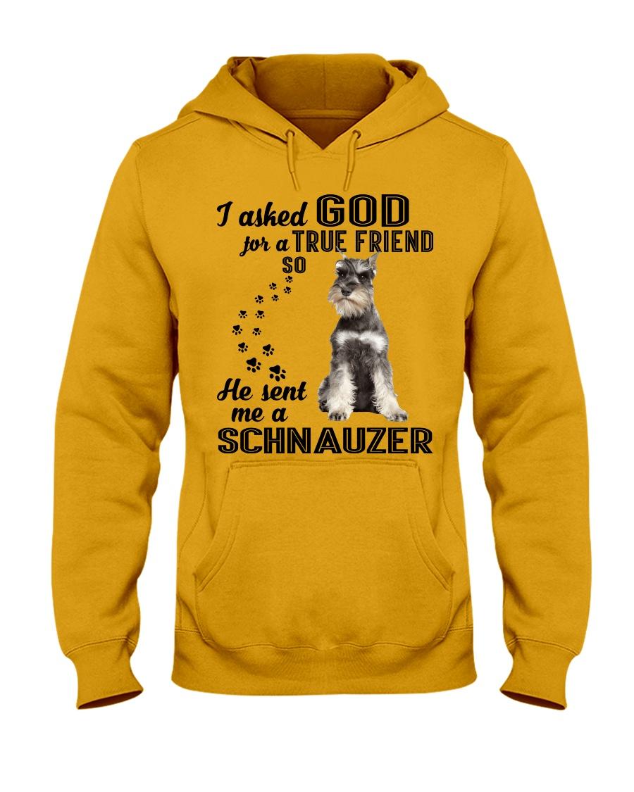 Miniature Schnauze Asked God Hooded Sweatshirt