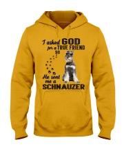 Miniature Schnauze Asked God Hooded Sweatshirt front