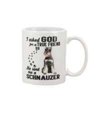 Miniature Schnauze Asked God Mug thumbnail