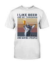 Beer and Chihuahua Classic T-Shirt front