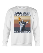 Beer and Chihuahua Crewneck Sweatshirt thumbnail
