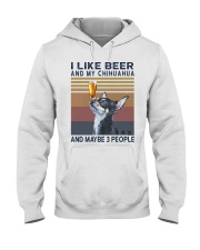 Beer and Chihuahua Hooded Sweatshirt thumbnail