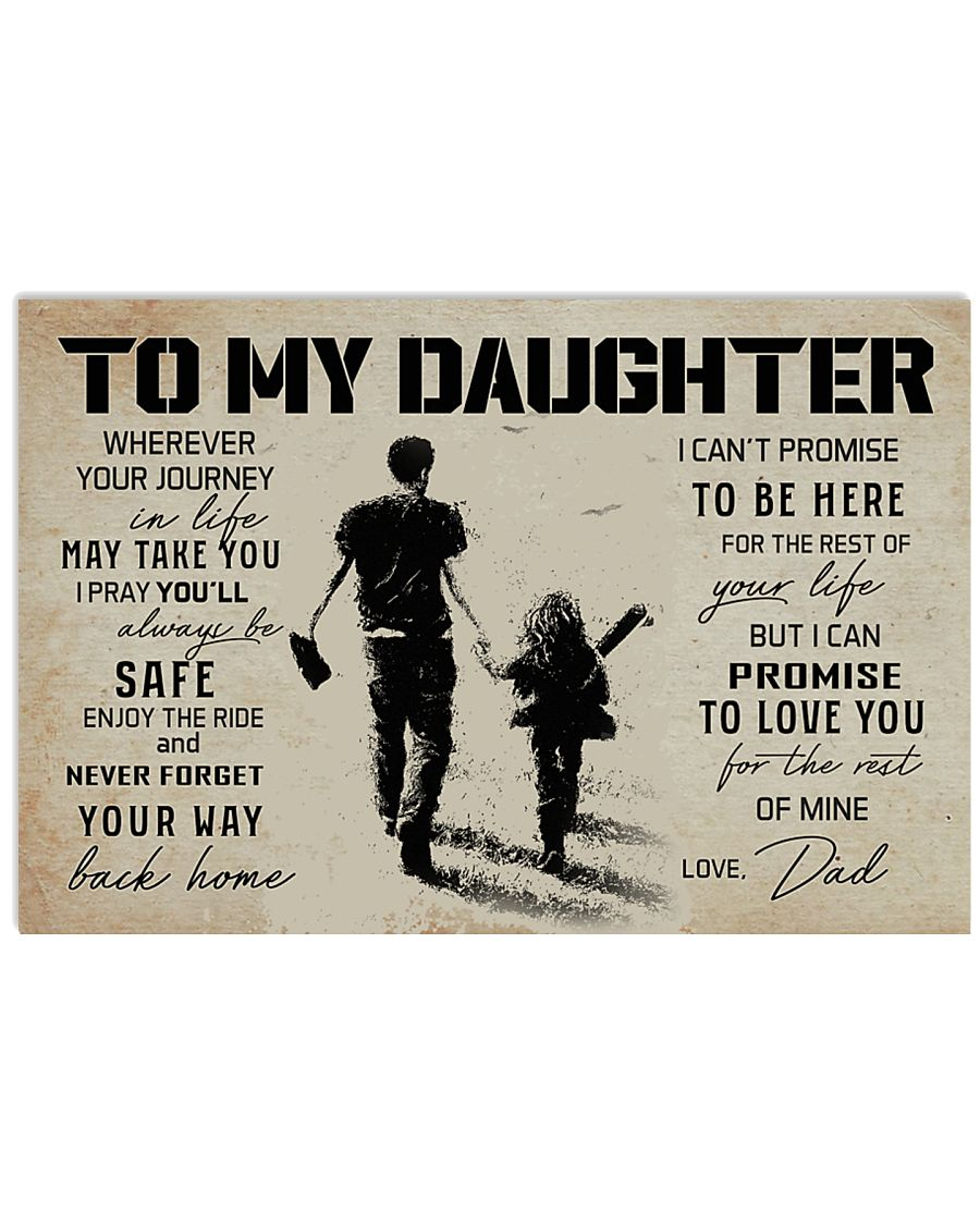 1 BASEBALL TO MY DAUGHTER 17x11 Poster