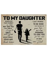1 BASEBALL TO MY DAUGHTER 17x11 Poster front
