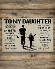 1 BASEBALL TO MY DAUGHTER 17x11 Poster poster-landscape-17x11-lifestyle-14