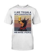Tequila and Doberman Pinscher Classic T-Shirt front