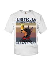 Tequila and Doberman Pinscher Youth T-Shirt thumbnail