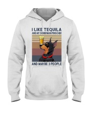 Tequila and Doberman Pinscher Hooded Sweatshirt thumbnail