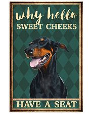 Doberman Pinscher why hello 11x17 Poster thumbnail