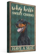 Doberman Pinscher why hello 16x24 Gallery Wrapped Canvas Prints front