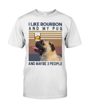 Bourbon and Pug Classic T-Shirt front
