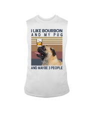 Bourbon and Pug Sleeveless Tee thumbnail