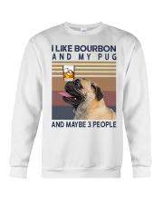 Bourbon and Pug Crewneck Sweatshirt thumbnail