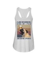 Bourbon and Pug Ladies Flowy Tank thumbnail
