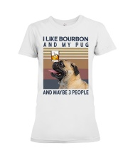 Bourbon and Pug Premium Fit Ladies Tee thumbnail