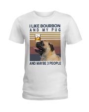 Bourbon and Pug Ladies T-Shirt thumbnail