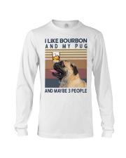 Bourbon and Pug Long Sleeve Tee thumbnail