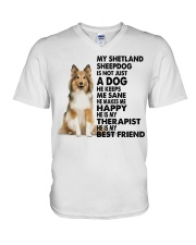 My Shetland Sheepdog V-Neck T-Shirt thumbnail