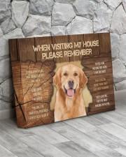 Visit home Labrador Retriever 14x11 Gallery Wrapped Canvas Prints aos-canvas-pgw-14x11-lifestyle-front-13