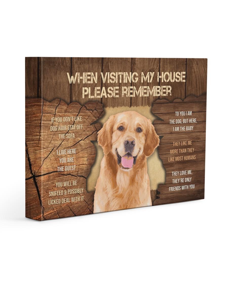 Visit home Labrador Retriever 14x11 Gallery Wrapped Canvas Prints