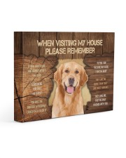 Visit home Labrador Retriever 14x11 Gallery Wrapped Canvas Prints front