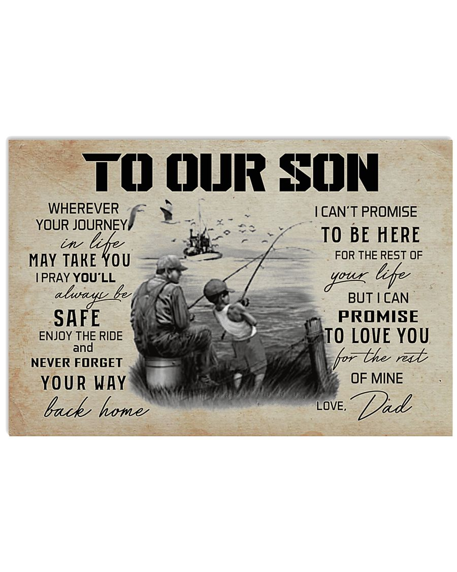 TO OUR SON FISHING 17x11 Poster