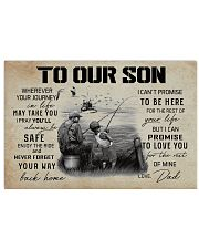 TO OUR SON FISHING 17x11 Poster front