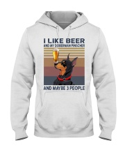 I like beer and my Doberman Pinscher Hooded Sweatshirt thumbnail