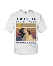 Tequila and Pugs Youth T-Shirt thumbnail