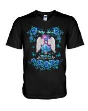 My Son Angel Blue V-Neck T-Shirt thumbnail