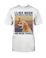 Beer and American Cocker Spaniels Classic T-Shirt front