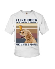 Beer and American Cocker Spaniels Youth T-Shirt thumbnail