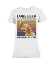Beer and American Cocker Spaniels Premium Fit Ladies Tee thumbnail